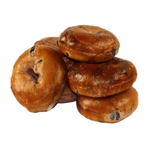 Just Bagels Sliced Blueberry Bagel, 4 Ounce -- 48 per case. Perspective: front