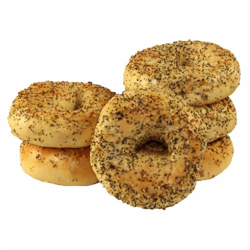 Just Bagels Everything Bagel, 4 Ounce -- 48 per case. Perspective: front