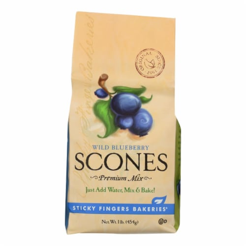 Sticky Fingers Bakeries - Scone Mix Blueberry - Case of 6 - 16 OZ Perspective: front