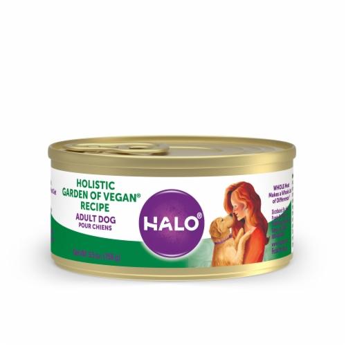 Halo Garden of Vegan Wet Dog Food Perspective: front