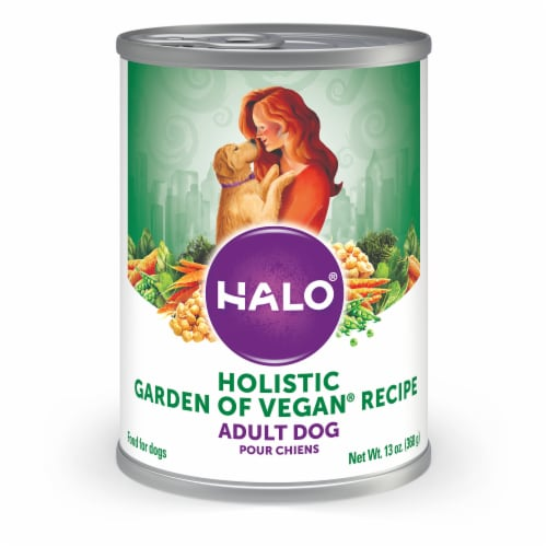 Halo Garden of Vegan Recipe Vegan Natural Wet Adult Dog Food (12 Pack) Perspective: front