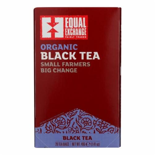 Equal Exchange Organic Black Tea - Black Tea - Case of 6 - 20 Bags Perspective: front