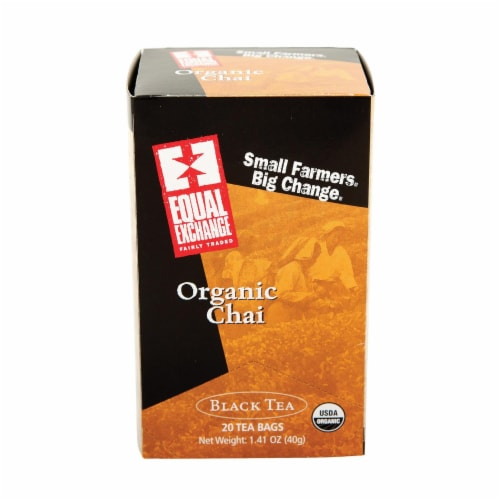 Equal Exchange Organic Chai Tea - Chai Tea - Case of 6 - 20 Bags Perspective: front