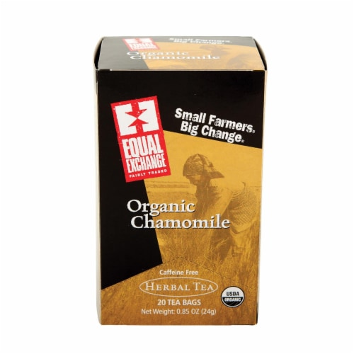 Equal Exchange Organic Chamomile Tea - Chamomile Tea - Case of 6 - 20 Bags Perspective: front