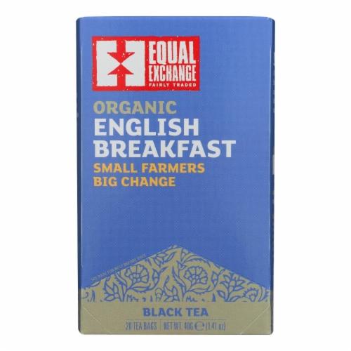 Equal Exchange Organic English Breakfast Tea - English Breakfast Tea - Case of 6 - 20 Bags Perspective: front