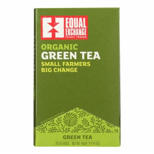 Equal Exchange Organic Green Tea - Green Tea - Case of 6 - 20 Bags Perspective: front