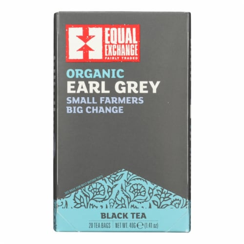 Equal Exchange Organic Earl Grey Tea - Grey Tea - Case of 6 - 20 Bags Perspective: front