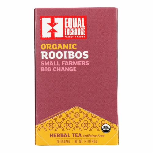 Equal Exchange Organic Rooibos Tea - Rooibos Tea - Case of 6 - 20 Bags Perspective: front
