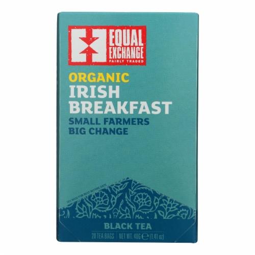 Equal Exchange Organic Irish Breakfast Tea - Irish Breakfast - Case of 6 - 20 Bags Perspective: front