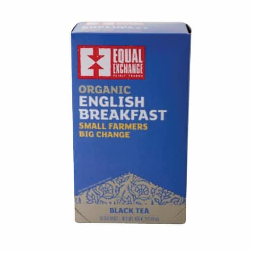 Equal Exchange Organic Black Tea English Breakfast - English Breakfast - Case of 6 - 20 Bags Perspective: front