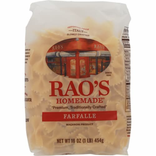 Rao's Homemade Farfalle , 16oz (Pack of 6) Perspective: front