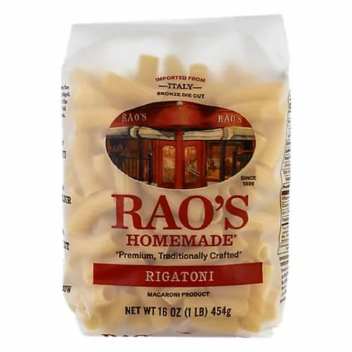 Rao's Homemade Rigatoni , 16oz (Pack of 6) Perspective: front