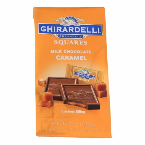 Ghirardelli Milk Chocolate Caramel Squares  - Case of 6 - 5.32 OZ Perspective: front