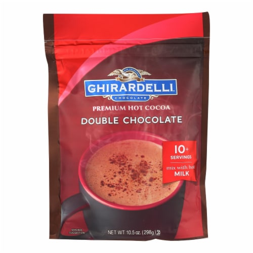 Ghirardelli Hot Cocoa - Premium - Double Chocolate - 10.5 oz - case of 6 Perspective: front