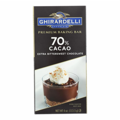Ghirardelli Chocolate, Premium Baking Bar, Extra Bittersweet Chocolate - Case of 12 - 4 OZ Perspective: front