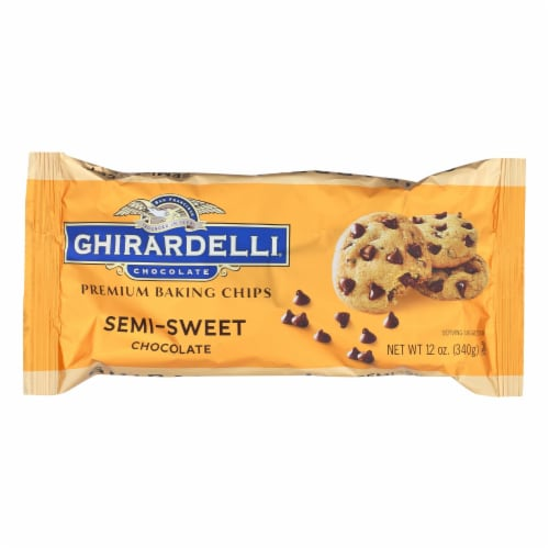 Ghirardelli Semi-Sweet Chocolate Premium Baking Chips Perspective: front