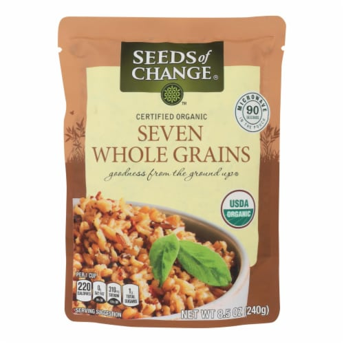 Seeds of Change Organic Microwavable Seven Whole Grains - Case of 12 - 8.5 oz. Perspective: front