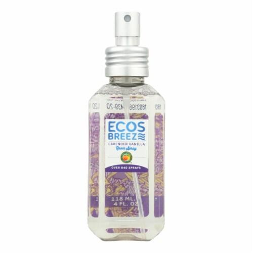 ECOS - Room Spray - Lavender Vanilla - Case of 6 - 4 fl oz. Perspective: front