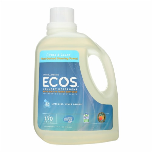 Earth Friendly Free and Clear Laundry Detergent - Case of 2 - 170 FL oz. Perspective: front