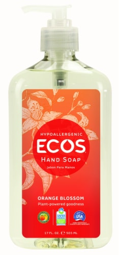 Earth Friendly Orange Blossom Hypoallergenic Hand Soap Perspective: front