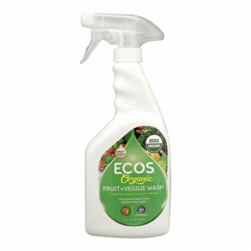 Ecos - Spray Fruit Veggie Wash - Case of 6 - 22 FZ Perspective: front