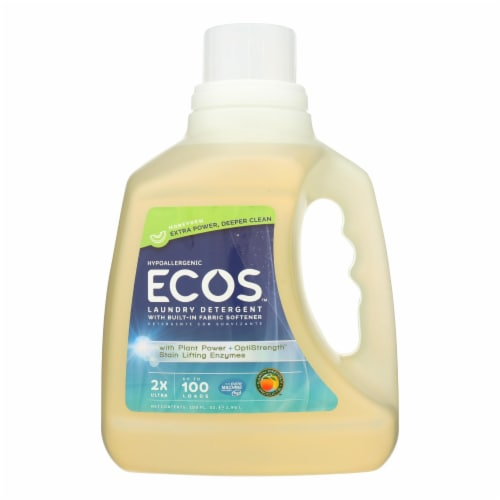 Earth Friendly Laundry Detergent - ECOS - Honeydew - Case of 4 - 100 fl oz Perspective: front