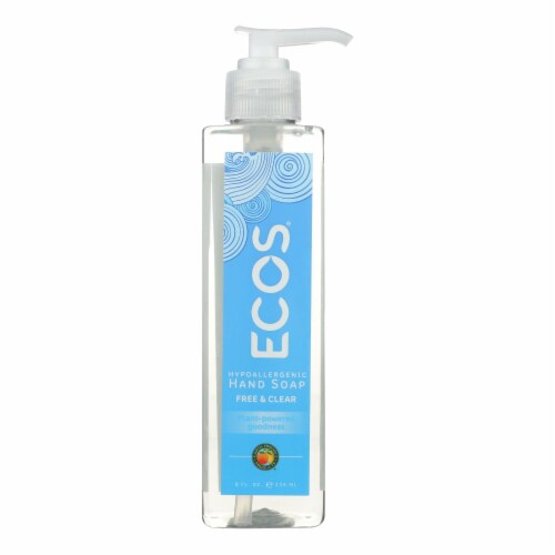 ECOS Hand Soap - Free And Clear - Case of 6 - 8 fl oz. Perspective: front