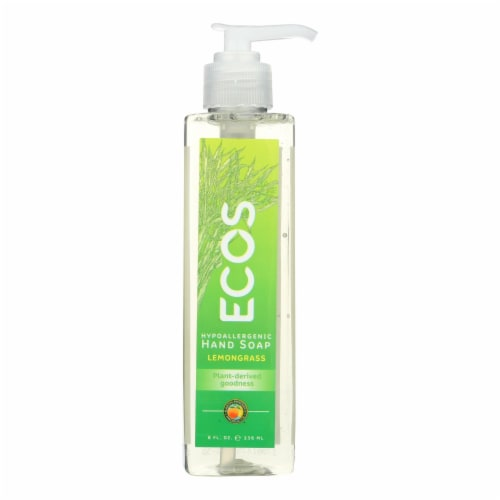 Earth Friendly Hand Soap - ECOS - Lemongrass - Case of 6 - 8 fl oz Perspective: front