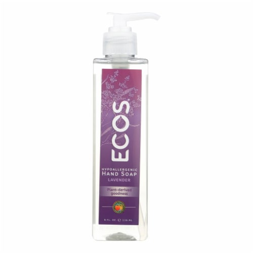 Earth Friendly Hand Soap - ECOS - Lavender - Case of 6 - 8 oz Perspective: front