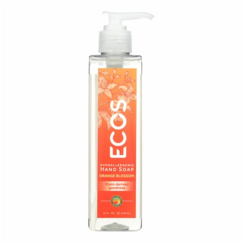 ECOS Hand Soap - Orange Blossom - Case of 6 - 8 fl oz. Perspective: front