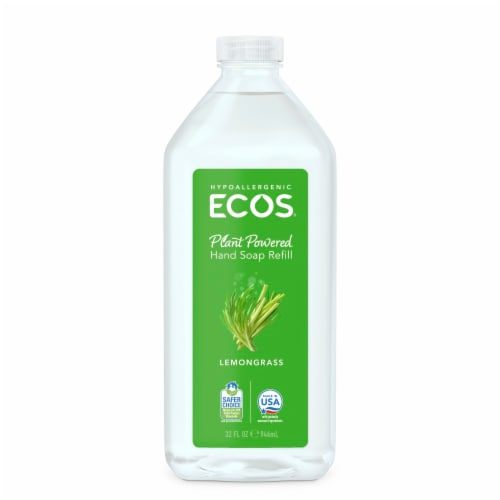 Earth Friendly Hand Soap Refill - Lemongrass - Case of 6 - 32 FL oz. Perspective: front