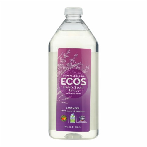Earth Friendly Hand Soap Refill - Lavender - Case of 6 - 32 FL oz. Perspective: front