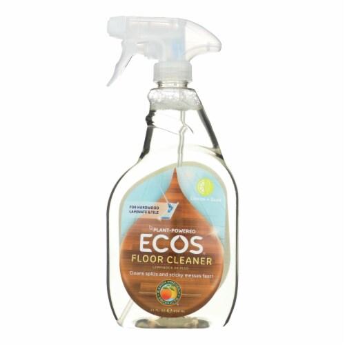 Earth Friendly Floor Cleaner - Lemon Sage - Case of 6 - 22 FL oz. Perspective: front