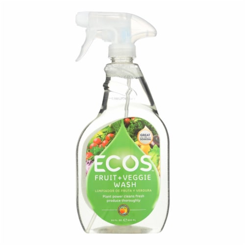 Earth Friendly Fruit and Vegetable Wash - Case of 6 - 22 FL oz. Perspective: front