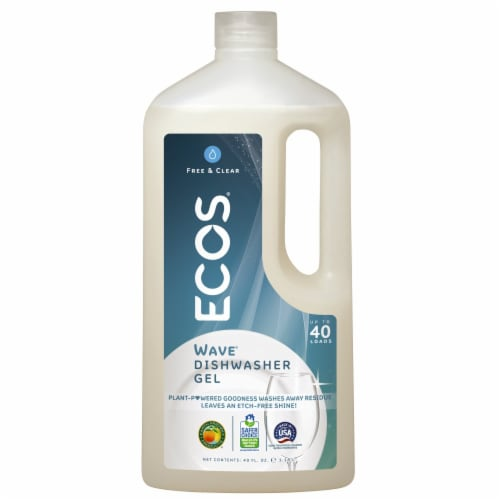 Earth Friendly Free and Clear Auto Dishwasher Gel - Case of 8 - 40 FL oz. Perspective: front