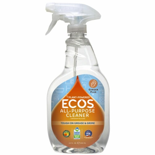 ECOS® Plant Powered Ginger Plus All-Purpose Cleaner Perspective: front