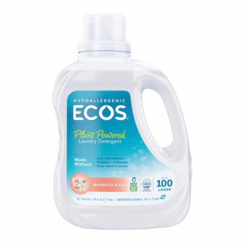 ECOS Magnolia and Lily Ultra 2x All Natural Laundry Detergent Perspective: front