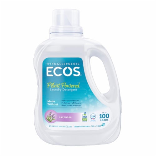 Earth Friendly Ecos Laundry Detergent Lavender, 100 OZ (Pack of 4) Perspective: front