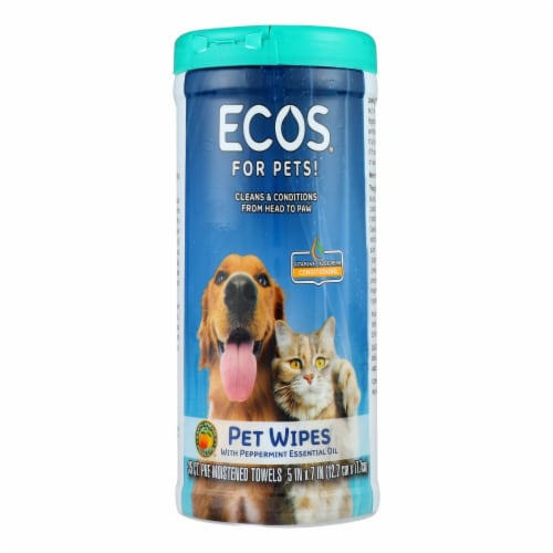 Ecos - Pet Wipes Pre-moist Towel - Case of 6 - 35 CT Perspective: front