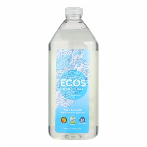 ECOS Hand Soap - Free And Clear - Case of 6 - 32 fl oz. Perspective: front