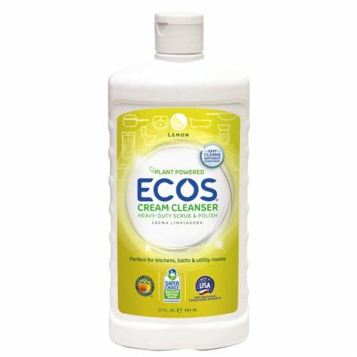 Earth Friendly Lemon Liquid Creamy Cleanser - Case of 6 - 17 FL oz. Perspective: front