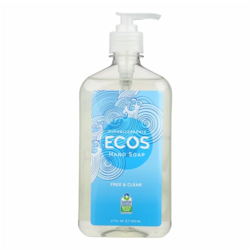 ECOS Hand Soap - Free And Clear - Case of 6 - 17 fl oz. Perspective: front