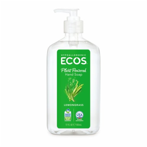 Earth Friendly Hand Soap - Lemongrass - Case of 6 - 17 FL oz. Perspective: front