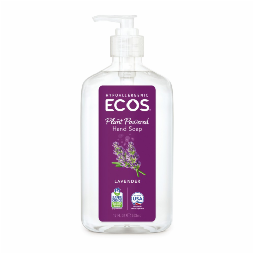 Earth Friendly Hand Soap - Lavender - Case of 6 - 17 FL oz. Perspective: front