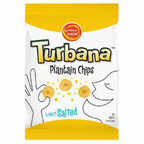 Turbana Lightly Salted Plantain Chips Perspective: front