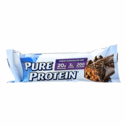 Pure Protein Bar - Chocolate Chip - Case of 6 - 50 Grams Perspective: front