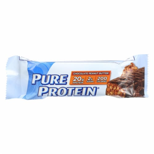 Pure Protein Bar - Peanut Butter - Case of 6 - 50 Grams Perspective: front