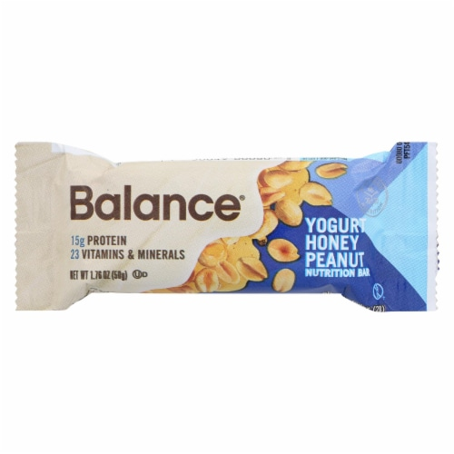 Balance Bar - Yogurt Honey Peanut - 1.76 oz - Case of 6 Perspective: front