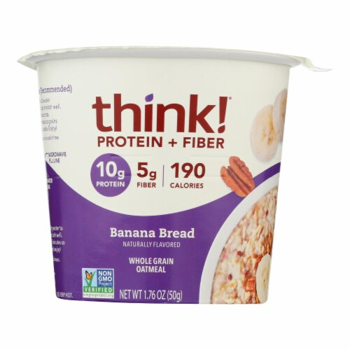 Thinkthin Protein And Fiber Oatmeal - Case of 6 - 1.76 OZ Perspective: front