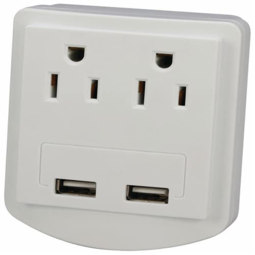 2 Outlet Surge Protector Perspective: front